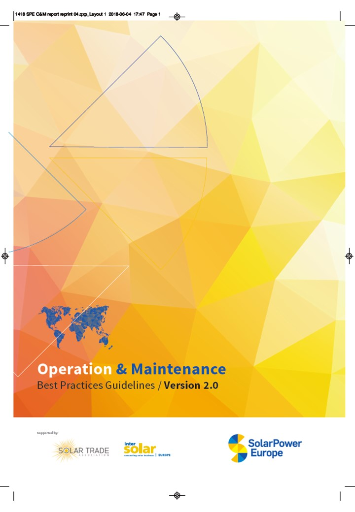 SolarPower Europe O&M Best Practices Guidelines - High resolution print version